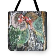 The Love Birds Tote Bag