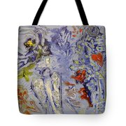 The Lovers In Blue Tote Bag