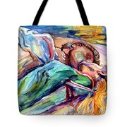 The Lovers Watercolor Tote Bag