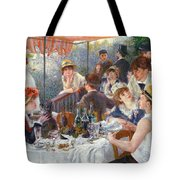 The Luncheon Of The Boating Party Tote Bag by Pierre Auguste Renoir