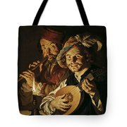 The Lutenist And The Flautist Tote Bag