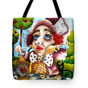 The Mad Hatter Tote Bag by Lucia Stewart