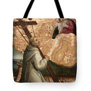 The Madonna And Child Appearing To Saint Bruno With The Instruments Of The Passion Tote Bag