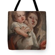 The Madonna And Child With A Goldfinch Tote Bag