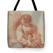 The Madonna And Child With An Escaped Goldfinch Tote Bag