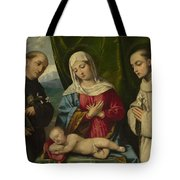 The Madonna And Child With Saints Tote Bag