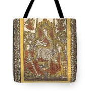 The Madonna Enthroned With Eighteen Holy Women Tote Bag
