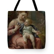 The Madonna Of The Basket Tote Bag