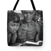 The Magic Of Books Bw Tote Bag