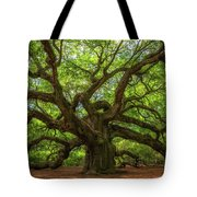 The Magical Angel Oak Tree Panorama  Tote Bag