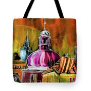 The Magical Rooftops Of Prague 01 Tote Bag by Miki De Goodaboom