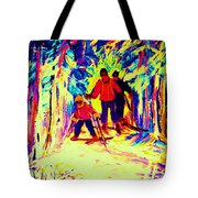 The Magical Skis Tote Bag