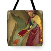 The Magus Hermogenes Casting His Magic Books Into The Water Tote Bag