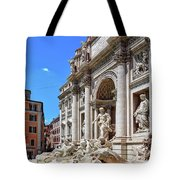 The Majesty Of The Trevi Fountain In Rome Tote Bag