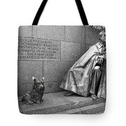 The Man And His Dog Tote Bag