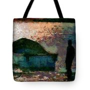 The Man And His Fishing Boat Tote Bag