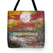 The Man And The Moon Tote Bag