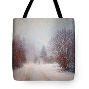 The Man In The Snowstorm Tote Bag by Tara Turner