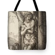 The Man Of Sorrows By The Column With The Virgin And St. John  Tote Bag