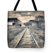 The Man On The Tracks Tote Bag