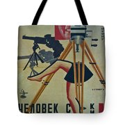 The Man With A Movie Camera Tote Bag