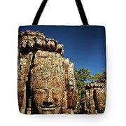 The Many Faces Of Bayon Temple, Angkor Thom, Angkor Wat Temple Complex, Cambodia Tote Bag