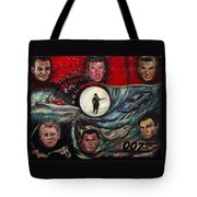 The Many Faces Of Bond...james Bond Tote Bag