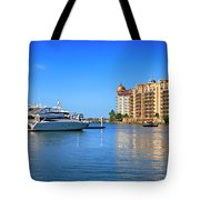 The Marina Sarasota Fl Tote Bag