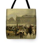 The Market In Antwerp Tote Bag