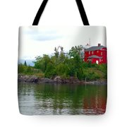 The Marquette Lighthouse Tote Bag