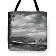 The Marsh-in Black And White Tote Bag