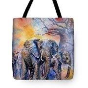 The Masai Mara Elephants Tote Bag