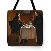 The Meal Of Saint Benedict Of Nurcia Tote Bag