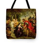 The Meeting Of David And Abigail Tote Bag