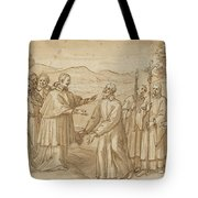 The Meeting Of San Carlo Borromeo And San Filippo Neri Tote Bag