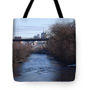 The Menomonee Near 33rd And Canal Streets Tote Bag
