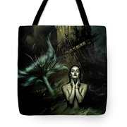 The Mermaid And The Sailor Tote Bag