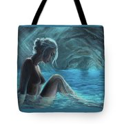 The Mermaid Of The Blue Cave Tote Bag