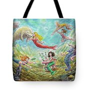 The Mermaids Of Weeki Wachee State Park Tote Bag