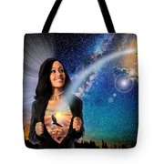 The Message Of Salvation Tote Bag