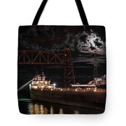The Michipicoten's Departure Under A Full Moon Tote Bag