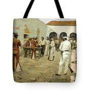 The Mier Expedition-the Drawing Of The Black Bean Tote Bag