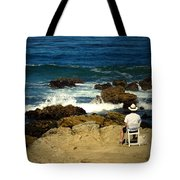 The Mighty Pacific Grab A Chair And Watch The Show Three Tote Bag