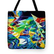 the migration of the Canadian geese Tote Bag
