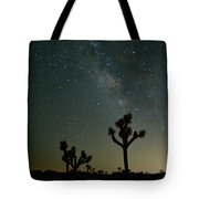 The Milky Way And Joshua Trees Tote Bag