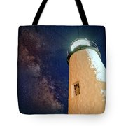 The Milky Way Over Pemaquid Point Tote Bag