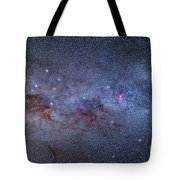The Milky Way Through Carina And Crux Tote Bag