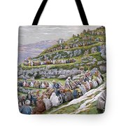 The Miracle Of The Loaves And Fishes Tote Bag by Tissot