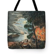 The Mississippi In Time Of War, 1865  Tote Bag