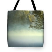 The Mists Of Hunt Lake Tote Bag by Stuart Deacon